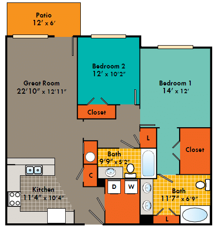 Two bedroom apartment Fayetteville NC,