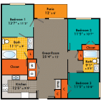 THREE BEDROOMS APARTMENTS IN FAYETTEVILLE