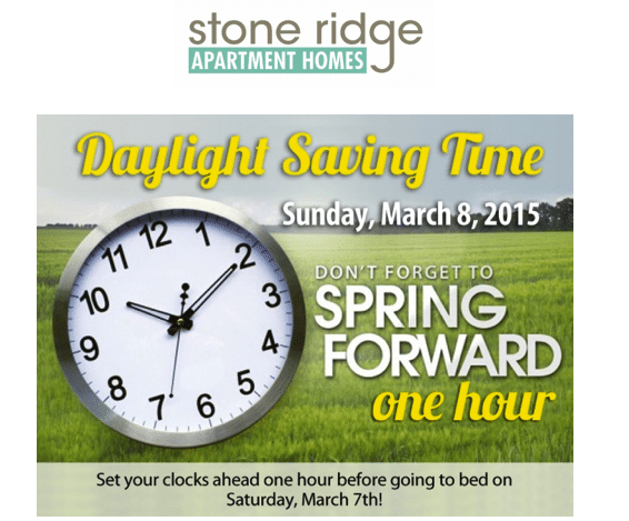 Stoneridge Apartments Fayetteville  NC Spring Forward. Reminder  Spring Forward   Stoneridge Apartments